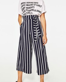 Cropped Trouser w/ Side Tie