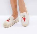 Soludos x Mary Matson Natural Lobster and Crab Double Platform Espadrilles