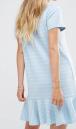 Vila Ruffle Hem Striped T-Shirt Dress