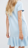 Vila Ruffle Hem Striped T-Shirt Dress
